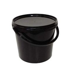 BLACK BUCKET AND LID 25L