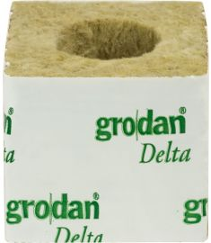 "3"" Grodan Rockwool Cubes (small / big hole)"