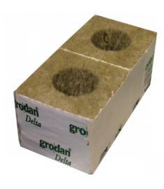 "4"" Grodan Rockwool Cubes (small / big hole)"