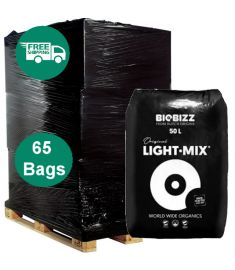 Full Pallet - Bio bizz Light Mix 50L soil - 65 bags