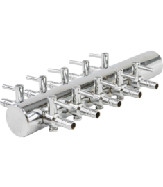 10 way steel manifold 18mm inlet
