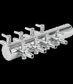 8 way steel manifold 18mm inlet